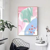 Modern art Abstract acrylic painting on canvas Pink and blue painting texture Large Wall Pictures Home Decor hand painted cuadros abstractos $123.75