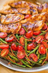 Tasty Balsamic Chicken and Veggies.Daily Simple recipes for everyone