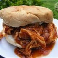 Simple crockpot chicken. BBQ sauce, italian dressing, brown sugar worcestershire sauce and chicken breasts. Put in crockpot and walk away...