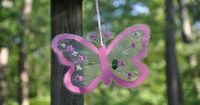 Butterfly Window Craft - cute idea for the front yard tree in the spring!