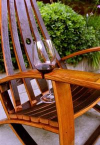 wine glass holder I need this chair! >> Awesome!