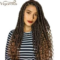 Vigorous Faux Locs Crochet Braids 16 20 Inch Soft Natural Soft Synthetic Hair Extension 24 Stands/Pack Goddess Locks $8.60