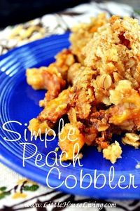 Simple Homemade Peach Cobbler I love everything to do with my slow cooker in the summer. Since moving into a house with a tiny kitchen I've come to realize that