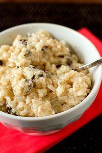 Cinnamon-Sugar Rice Pudding with Bourbon-Soaked Raisins