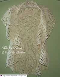 Circular Jacket free crochet graph pattern OR upcycle a round crochet tablecloth