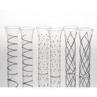 Stemless flutes - glass - $75 for six, not customized