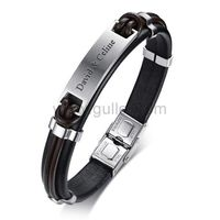 Customized Leather Mens Love Bracelet https://www.gullei.com/customized-leather-mens-love-bracelet.html