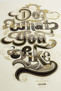 Do What You Like on Behance #typography #inspiration #gold