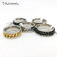 Stainless Steel Chain Ring Fidget $10.32