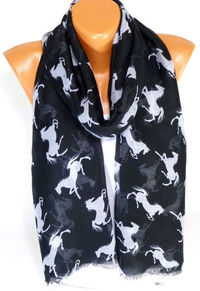 infinity Horse Scarf, Horse Patterned Scarf, Horse Printed Shawl, Lightweight Summer Scarf, Spring Scarf, Gift for Christmas for Mothers Day $16.00