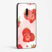 Strawberries in Watercolor Glass Case Phone Cover from Myxtur