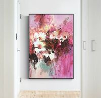 Abstract floral paintings on canvas Original palette knife white canvas Painting framed Wall Art Home Decor caudros $79.00