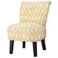 """Threshold�""""� Rounded Back Chair - Summer Wheat Diamond Ikat"""