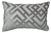 Karl Platinum Small Rectangle Pillow by Lili Alessandra $238.00