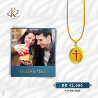 Express your faith in style with this elegantly detailed cross pendant with chain.