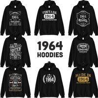 1964 Birthday Gift, Vintage Born in 1964 Hooded Sweatshirt for women men, 56th Birthday Hoodie for her him, Made in 1964 hoodies 56 Year Old $23.99