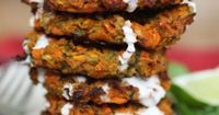 Curried Carrot and Zucchini Fritters with Ginger Coconut Sauce