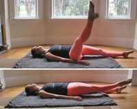 Adding a leg lift to your side plank tones the outer thigh while challenging your core. The trick to keeping the pelvis high as you lift your top leg is to