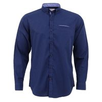 Create a stylish look with this Oxford Men navy blue casual shirt. Woven in Egyptian cotton. this casual shirt has a fine finish.  �€� 100% Cotton  �€� Classic collar  �€� Full Sleeve  �€� Oxford Men  �€� Machin...