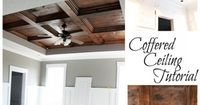 All I could say is, �€œWow!�€ That looks gorgeous. I am a sucker for architectural details. This wood stained coffered ceiling turned out to be very beautiful. I c