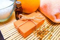Orange Lavender Organic soap $12.00