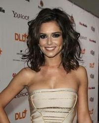 Cheryl Cole, Curly Hair, Dark Brown, Shoulder Length Hair, Waves,