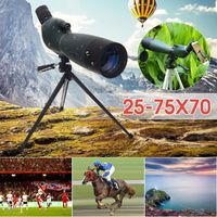 25-75x70 BAK4 Optical Lens Telescope With Tripod Spotting Scope Waterproof Long Range Bird Watching Wildlife Monocular