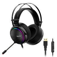 Tronsmart Glary Gaming Stereo Headset Virtual 7.1 Colorful LED Light USB Interface Headphone for PS4 Xbox Video Game