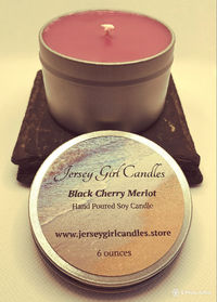 Black Cherry Merlot 6 ounce Soy Candle $8.00