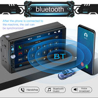 7 Inch 2 DIN Auto Stereo Radio Car MP5 Player bluetooth Hands-freeTouch Screen FM/USB/AUX Support Rear View Camera Input