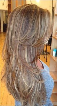 I want my hair cut like this.... Loving all the layers