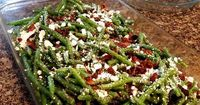 "Bacon Feta Beans | ""This is a great side dish to bring to a BBQ or summer party."""