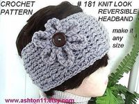 Ravelry: #181, KNIT LOOK CROCHETED HEADBAND pattern by Ashton E Leven