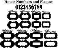 House Numbers and Ornaments Plaques Just for: $29.90