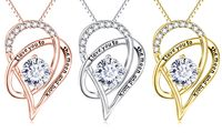 Mother's Day I Love You To The Moon & Back Swarovski Elements Necklace & Gift Box $17.00