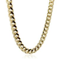 Gold Plated 11mm Miami Cuban Curb Link Chain £66.36