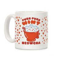 �œ� Handcrafted in USA! �œ� Support American Small Businesses. Purr Purr Mint Meowcha Ceramic Coffee Mug $14.99