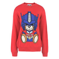Moschino Transformers Bear Long Sleeves Sweater Red
