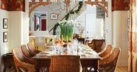 Sarah Richardson's Ideas for Celebrating Christmas in the Country - paperwhites on the table.