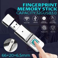 ANYTEK Fingerprint Memory Stick U Disk 32G USB 3.0 Flash Drive USB Drive