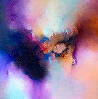 Original abstract expressionist purple painting 'Reve' by award-winning artist Simon Kenny $6200.00