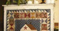 Primitive Folk Art Quilt Pattern: THIS OLD FARMHOUSE (Wall Quilt).