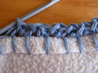 Crochet into edge of fabric
