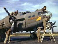 World War 2 Bomber and it's crew