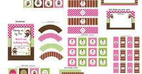 DIY Girl Monkey Birthday Deluxe Collection by CupcakeExpress