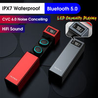 [Bluetooth 5.0] TWS True Wireless HIFI Digital Display Earphone Touch Noise Cancelling IPX7 Waterproof Sports Earbuds With Mic for Xiaomi Huawei