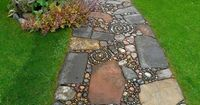 one of the pictures on web was of an Old Woman's Garden path with fabulous garden stones. Where can we buy these?