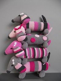 Pink Doxies!! This summer I vow to learn how to crochet.
