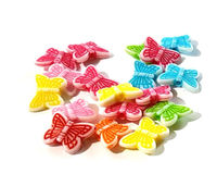 Pack of 140 Assorted Colours Butterfly Beads. Mixed Animal Nature Acrylic Charms. 11mm x 14mm £5.39