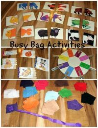 Fun ideas for busy bag activities for kids shared by Two Big Two Little. Great ways to keep the kids busy when you need a second to get something done. View thi